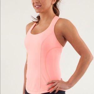 Lululemon Women's Cardio Kick Tank Top Coral Pink